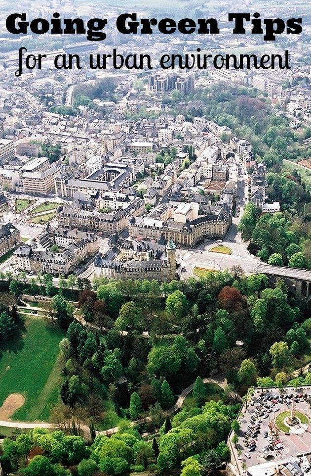 going green tips for an urban enviroment