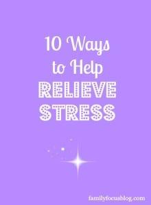 Ways to help relieve stress