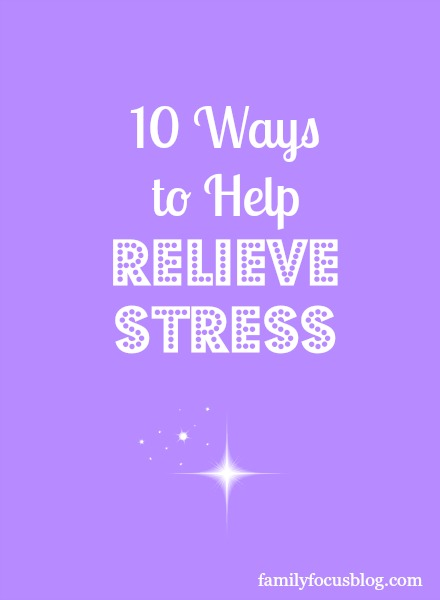 Ways to help relieve stress