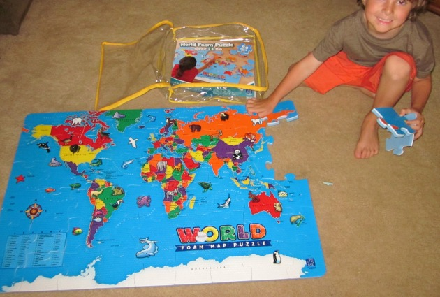The World Map Floor Puzzle Kids Will Love By Educational ...