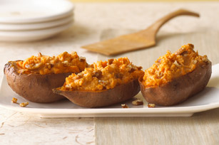 christmas potluck twice baked sweet potatoes