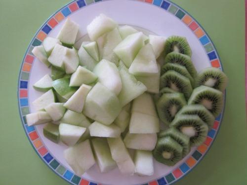 St Patrick Day Snacks, green fruit tray