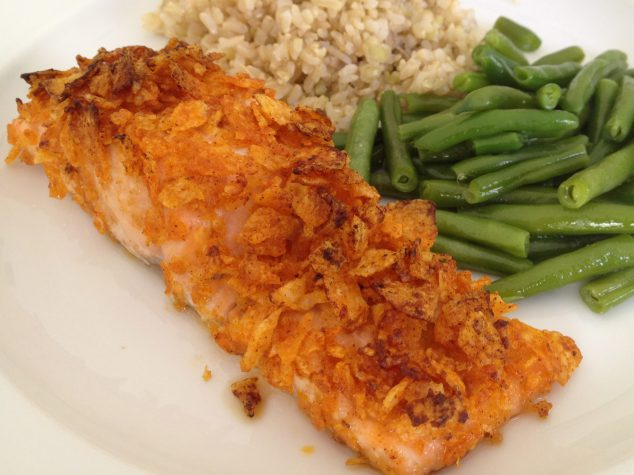 BBQ Kettle Chips Encrusted Salmon