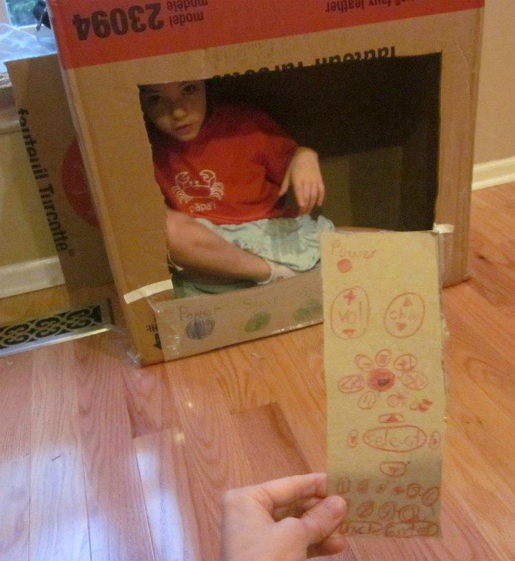 cardboard box TV