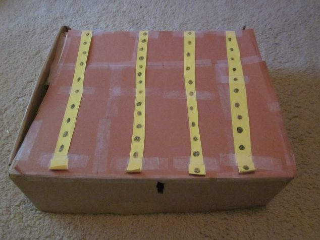 how to reuse cardboard boxes - Treasure Chest