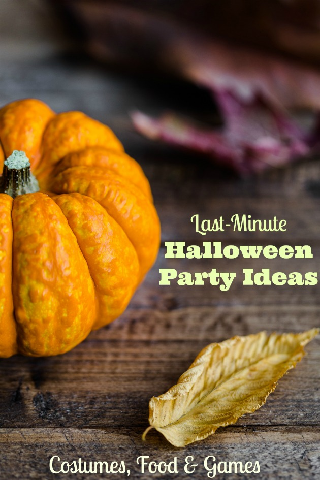 last minute Halloween party ideas