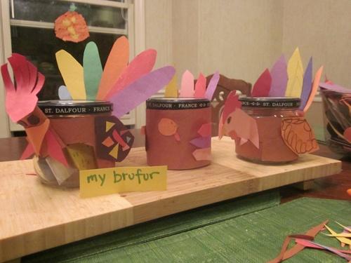 Thanksgiving craft Thankful turkeys