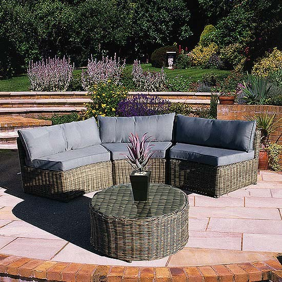 Recycled plastic wicker furniture