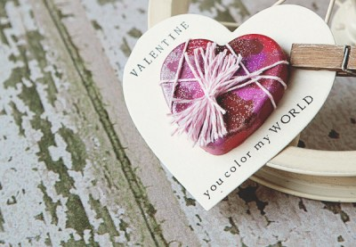 heart crayon valentine