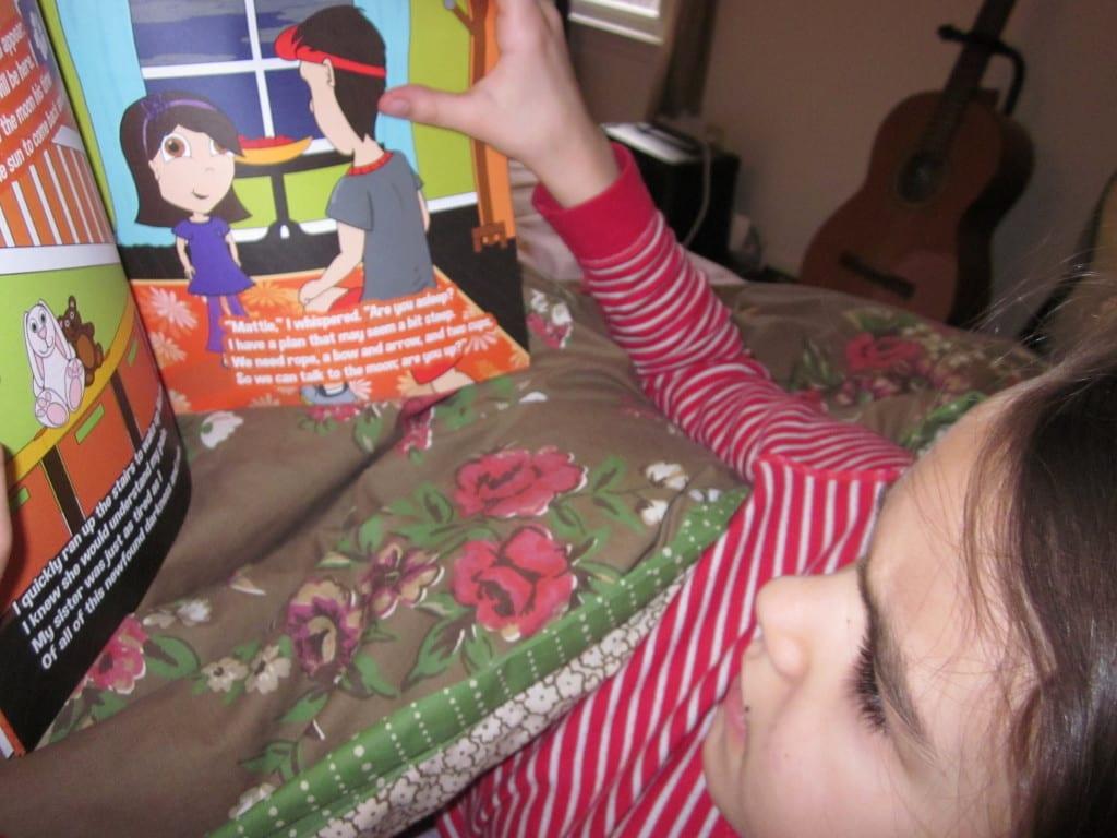 kid reading Come Back Dear Sun