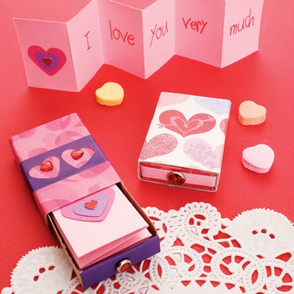 Spoonful matchbox valentines