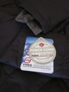 Free Country down coat with fleece sleeve