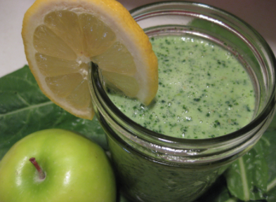 Dandelion Lemon Green Smoothie Recipe