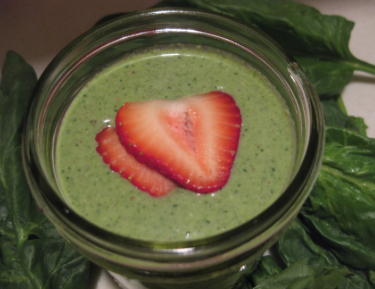 3 green smoothie recipes, Spinach Strawberry smoothie
