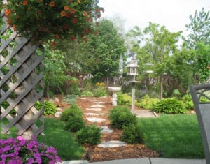 inviting backyard space