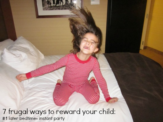 7 ways to reward your child such as a later bedtime / Family Focus Blog