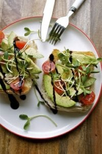 sprouts and avacado sandwich