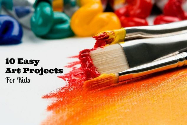 10 Easy Art Projects For Kids
