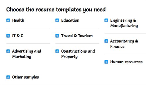 Resume Template Resource / Family Focus Blog