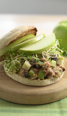 Sprouts and peanut butter sandwich