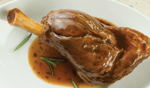 3 sauces for lamb ; this one is rosemary mint sauce with lamb