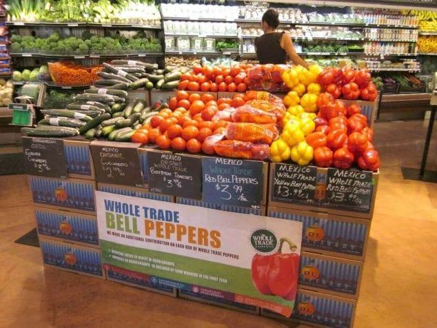 Fair Trade vegetables