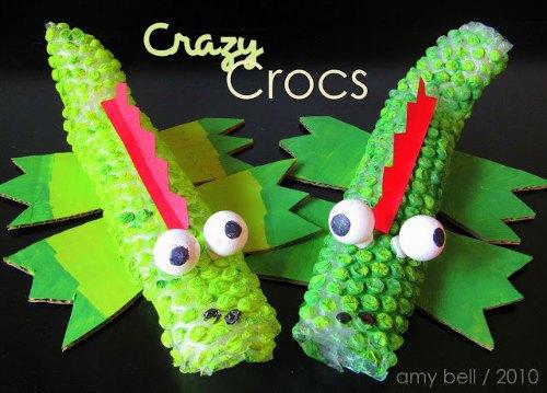 4 kids craft ideas / bubble wrap crocs