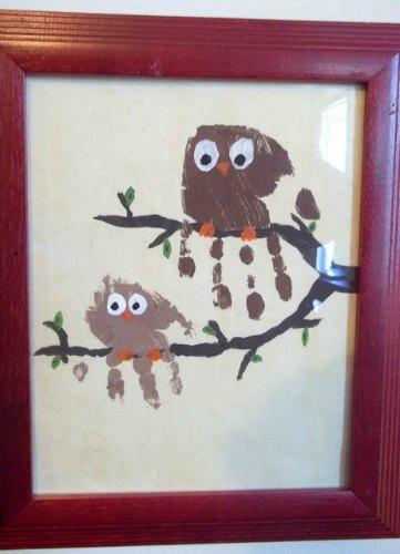 handprint art as decor