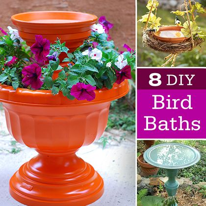DIY bird bath ideas