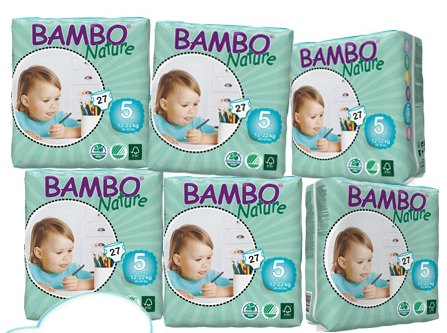 Case of Bambo Nature Eco Diapers
