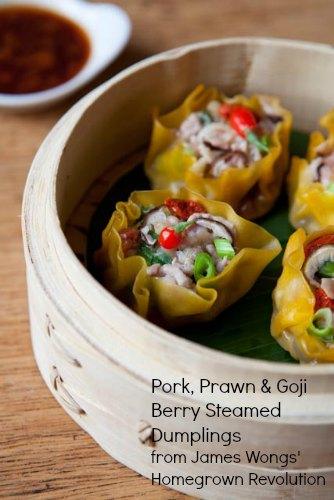 Pork, Prawn & Goji Berry Steamed Dumplings