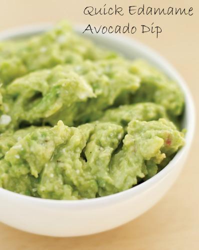 edamame avocado dip a healthy snack idea