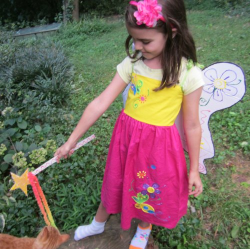 homemade fairy wings and wand