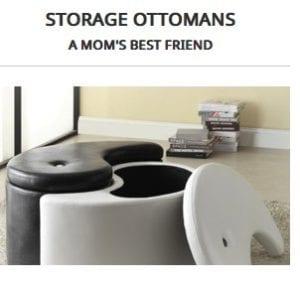 family friendly modern furniture- storage ottomans