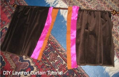 DIY Layered Curtains
