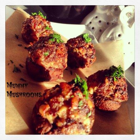 Halloween Recipe Mummy Mushrooms