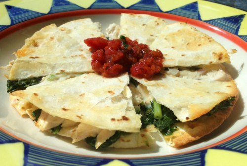 chicken and kale quesadillas recipe