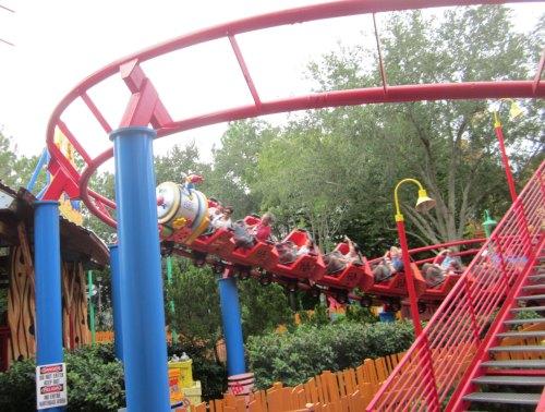 woody's kids roller coaster Universal Studios