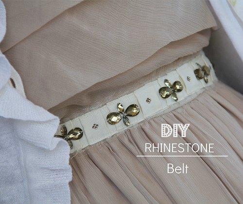 how to make a rhinestone belt