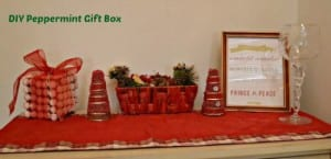 DIY peppermint gift box Christmas decoration