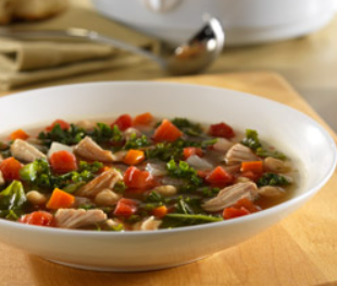 crockpot pork rib and kale soup