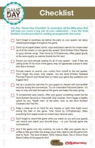 football party checklist