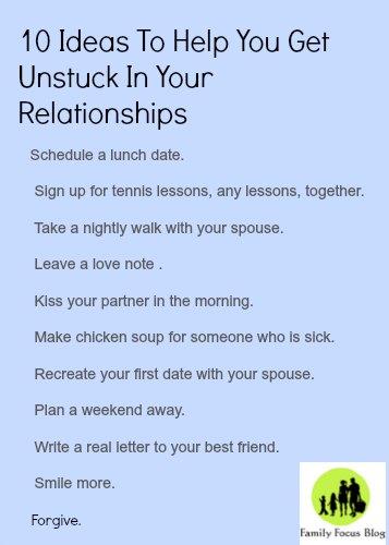 unstuck in relationships