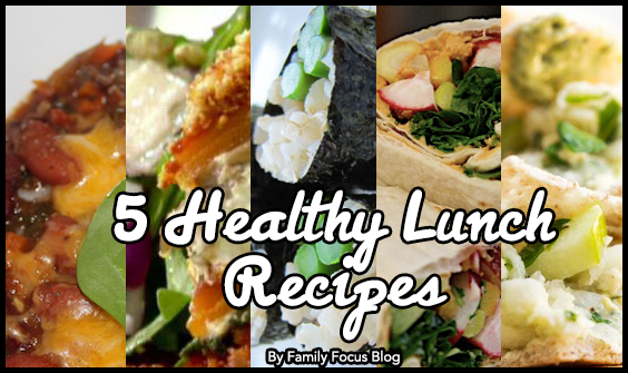5 day healthy meal plans | 5 Healthy Lunch Recipes