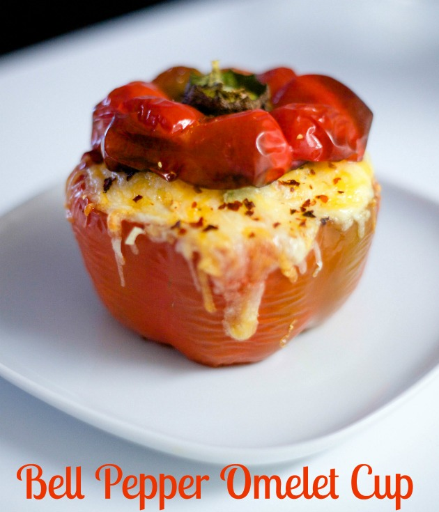cheesy bell pepper omelet cup