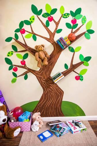 DIY-tree-bookshelf