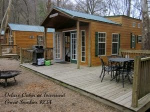 KOA deluxe cabin review