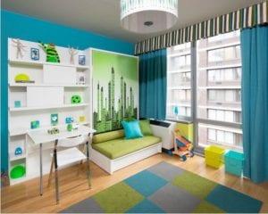 modern aqua kids room