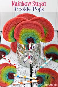 Rainbow Sugar Cookie Pops