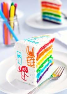 rainbow recipes- Rainbow Cake